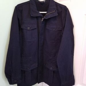 Women's size small 34-36 Lands End navy coat